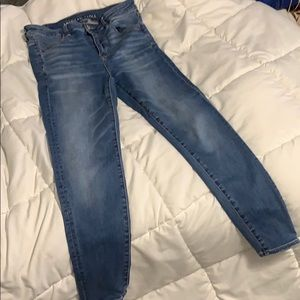 Hi rise skinny jeans short inseam